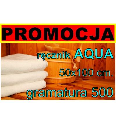Ręcznik HOTELOWY, 50x100 AQUA
