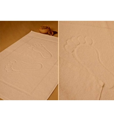 Dywanik łazienkowy NATURAL STOPKI 50x70cm.  ECRU